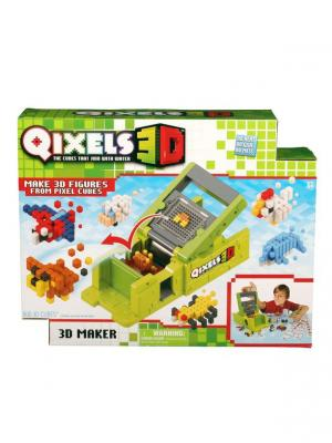 Qixels 3d набор для творчества  машинка создания фигурок принтер. Цвет: зеленый