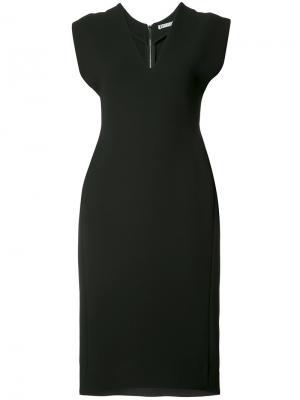 Приталенное платье-миди Maticevski. Цвет: чёрный