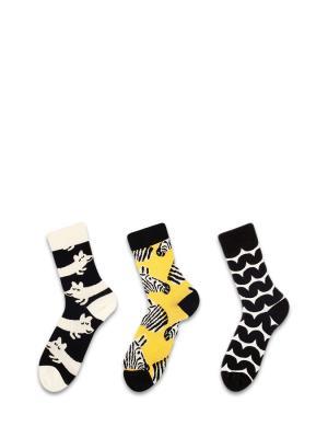 Носки Sammy Icon. Цвет: черный, желтый, белый