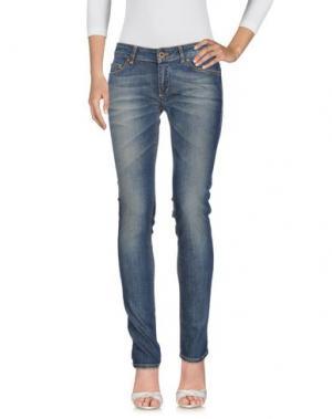 Джинсовые брюки LALTRAMODA. Цвет: синий