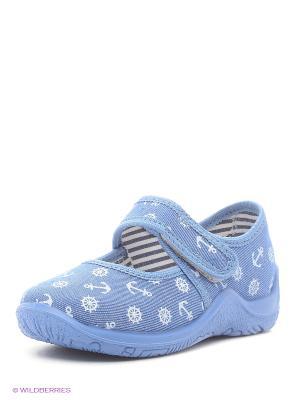 Тапочки Kapika. Цвет: голубой