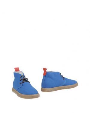Полусапоги и высокие ботинки DEL TORO. Цвет: синий