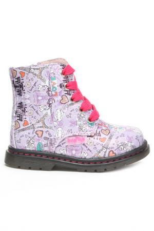 Ботинки INDIGO KIDS. Цвет: сиреневый