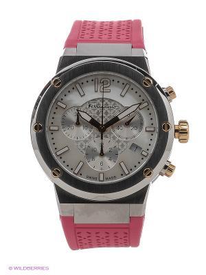 Часы Salvatore Ferragamo. Цвет: белый, розовый