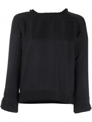 Блузка с бахромой Bellerose. Цвет: чёрный