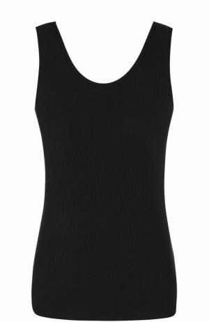 Топ фактурной вязки без рукавов Steve J & Yoni P. Цвет: черный