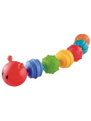 Конструктор для малыша Гусеница ELC. Цвет: красный, голубой, желтый, синий