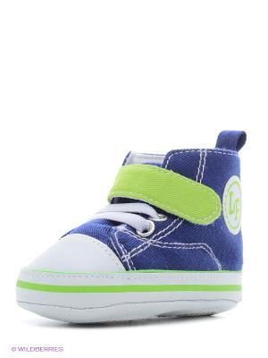 Пинетки Высокие кроссовки Luvable Friends. Цвет: синий