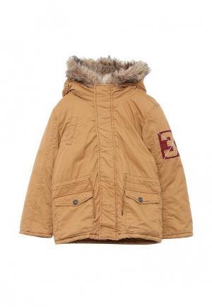 Куртка утепленная Z Generation. Цвет: коричневый