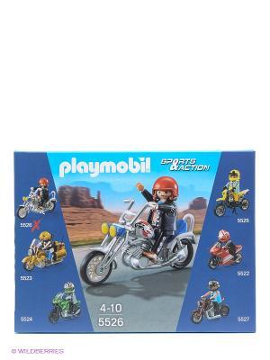 Коллекция мотоциклов Мотоцикл орел Playmobil. Цвет: синий
