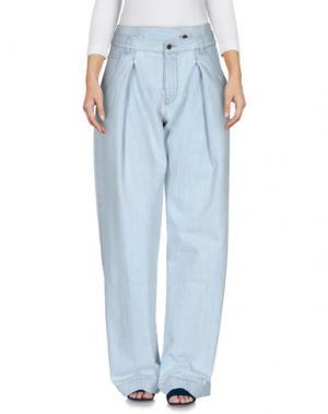 Джинсовые брюки MARCELO BURLON. Цвет: синий