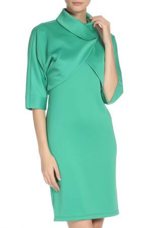 Костюм: жакет, платье Adzhedo. Цвет: зеленый, травяной