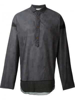 Рубашка с принтом Kolor. Цвет: серый