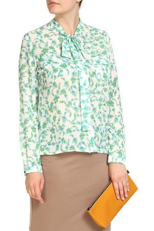 Блуза LOLA PALTINGER. Цвет: синий