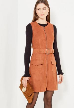 Платье Zarina. Цвет: коричневый