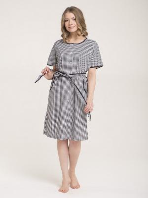 Платье-халат Лори. Цвет: синий