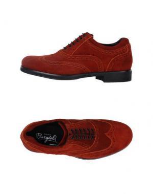 Обувь на шнурках BORGIOLI. Цвет: ржаво-коричневый