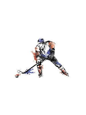 Наклейки для декора - Чемпионат по хоккею ROOMMATES. Цвет: белый, черный, синий, зеленый, серый, голубой, красный, оранжевый, желтый