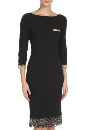 Прилегающее платье на молнии Cristina Effe. Цвет: черный