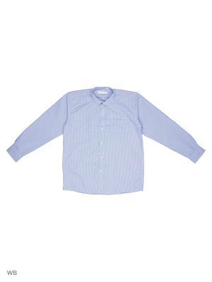 Рубашка FASHION LEADER. Цвет: светло-голубой