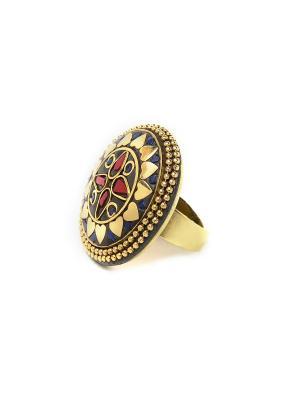Кольцо Коралловый цветок MZ0093 Indira. Цвет: красный