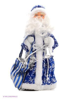 Кукла Дед Мороз 25 см Новогодняя сказка. Цвет: синий, белый