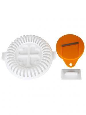 Набор для приготовления чипсов  в микроволновой печи Гризли RUGES. Цвет: оранжевый, белый