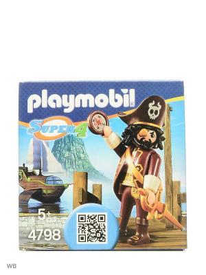 Супер4: Акулья борода Playmobil. Цвет: темно-бордовый