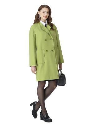 Пальто Elema. Цвет: светло-зеленый