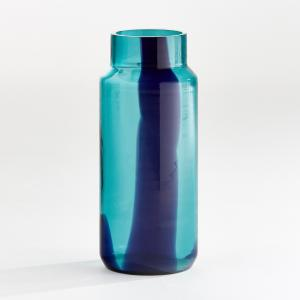 Ваза в форме бутыли, Odomar AM.PM.. Цвет: зеленый/ синий,янтарь
