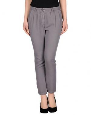 Повседневные брюки ATTIC AND BARN. Цвет: голубиный серый