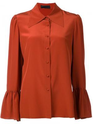 Рубашка с косым воротником Co. Цвет: коричневый