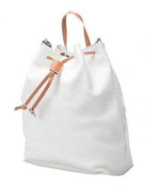 Рюкзаки и сумки на пояс LOMBARDI. Цвет: слоновая кость