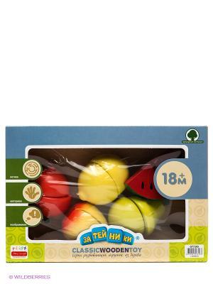 Набор фруктов на липучках с разделочной доской ЗАТЕЙНИКИ. Цвет: желтый