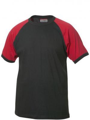 Футболка Raglan-T Clique. Цвет: черный, красный