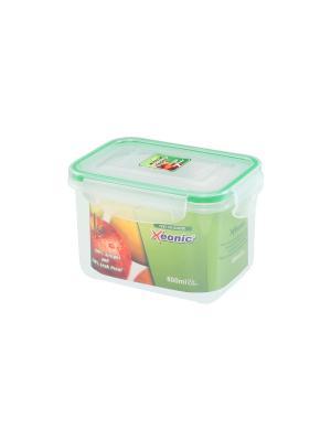 Контейнер герметичный 800 мл XEONIC CO LTD. Цвет: прозрачный, зеленый