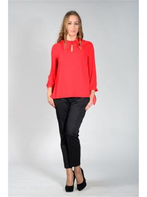 Блузка Лагуна. Цвет: красный