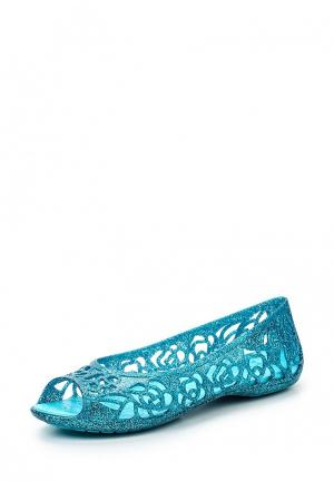 Туфли Crocs. Цвет: голубой