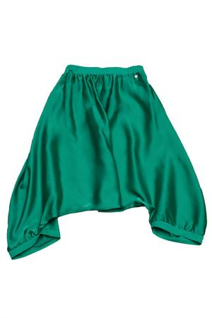 Брюки FuN&FuN. Цвет: зеленый