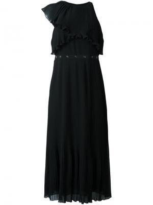 Платье с плиссировкой Giamba. Цвет: чёрный