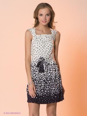 Платье Hammond. Цвет: белый, темно-синий