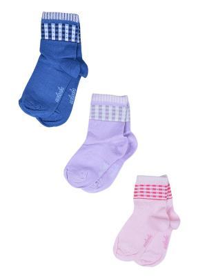 Носки Детские,комплект 3шт Malerba. Цвет: синий, розовый, сиреневый