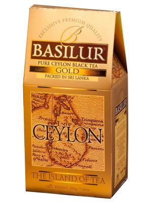 Чай черный Basilur Ceylon Gold, 200 гр.. Цвет: черный, золотистый
