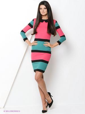 Платье Hammond. Цвет: бирюзовый, розовый