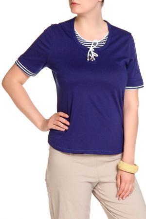 Блуза HELENA VERA. Цвет: темно-синий