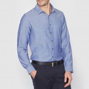 Рубашка узкого покроя R essentiel. Цвет: синий