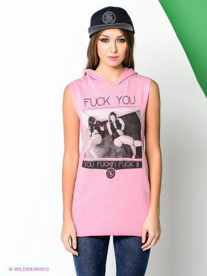 Туника Boom Bap Wear. Цвет: розовый, черный