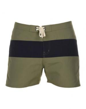 Пляжные брюки и шорты SATURDAYS NEW YORK CITY. Цвет: зеленый-милитари