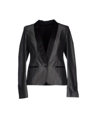 Пиджак RING. Цвет: стальной серый