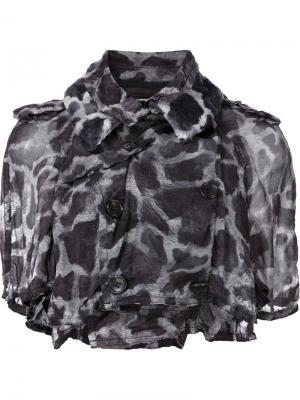 Укороченная куртка с пятнистым принтом Comme Des Garçons. Цвет: чёрный